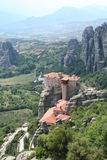 Greece. Meteora. Monastery in mountains Royalty Free Stock Image