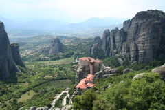 Greece. Meteora. Greece. Monastery of Meteora in mountains Stock Image