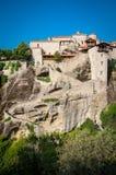 2016, Greece Meteora, beautiful landscape of Meteora monasteries. Monastery in the rock Stock Images