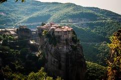 2016, Greece Meteora, beautiful landscape of Meteora monasteries. Monastery in the rock Stock Image