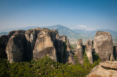 2016, Greece Meteora, beautiful landscape of Meteora monasteries. Monastery on the rock Royalty Free Stock Photo