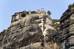 Greece, Meteora. The Holy Monastery of Varlaam Stock Photo