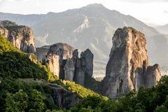 Greece Meteora landscape Stock Photography