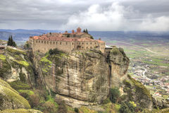 Greece. Meteora. Monastery of Saint Stephen Stock Photography
