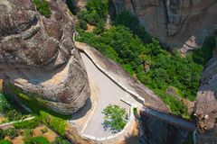 Greece, Meteora, top view royalty free stock photo