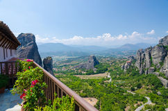 Greece, Meteora view from the Monastery of St. Barbara Royalty Free Stock Image