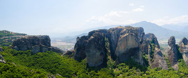 Greece, Meteora, the view from the observation deck Stock Photo