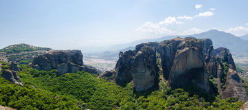 Greece, Meteora, the view from the plateau Royalty Free Stock Photos