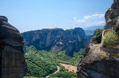 Greece, Meteors, climb to monastery of St. Varlaam Royalty Free Stock Photo