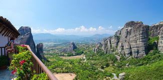 Greece, Meteors, Greece, Meteora, the view from the observation Stock Images