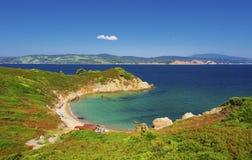 Greece. Micro Mandraki beach, Skiathos, Greece / Aegean sea Stock Photo