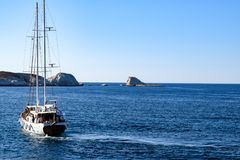 The island of Milos stock images