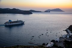 GREECE, MILOS: JULY 02, 2017: Journey to the village of Klima on the island of Milos royalty free stock images