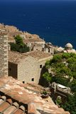 greece monemvasia widok na ocean Fotografia Stock