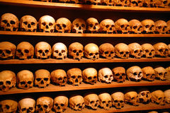Greece, monks skulls Royalty Free Stock Photo