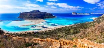 Greece - most beautiful beaches series - Balos bay in Crete isla Royalty Free Stock Photos