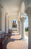 Greece. Mount Athos. Karyes. Palace home of the Holy Community, the governing body of the Athonite monastic republic Royalty Free Stock Photo