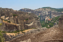 Greece, the mountains of Thessaly. Magnificent views of the ancient complex of monasteries - Meteora Stock Photo
