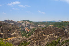 Greece, the mountains of Thessaly. Magnificent views of the ancient complex of monasteries - Meteora Stock Photography