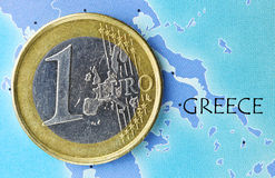 Greece na zona Euro Foto de Stock Royalty Free