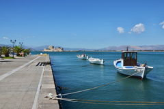 Greece,Nafplion-view of the fort Bourtzi Royalty Free Stock Image