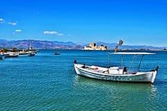 Greece,Nafplion-view of fort Bourtzi Stock Image