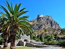 Greece,Nafplion-view of the fort Palamidi Stock Photos