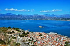 Greece,Nafplion-view from the fortress Palamidi Royalty Free Stock Images