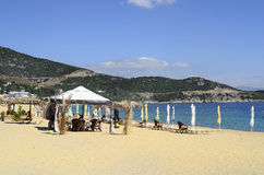 Greece, Nea Iraklitsa beach. Greece, beach in Nea Iraklitsa near Kavala Stock Photo