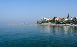 Greece, Nea Kallikratia, view from the pier Stock Photos