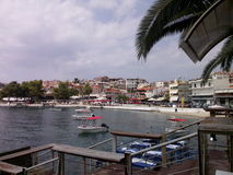 greece neos marmaras port Obraz Stock