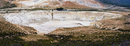 Greece. Nisyros. Stefanos crater. Stefanos, the largest crater of the volcano. Nisyros, Greek island Stock Photo