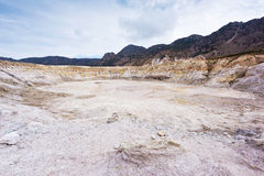 Greece. Nisyros. Stefanos crater. Stefanos, the largest crater of the volcano. Nisyros, Greek island Stock Image