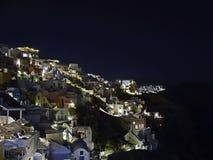greece noc santorini Fotografia Royalty Free