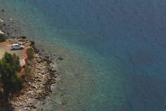 Greece O Golfo de Corinto foto de stock