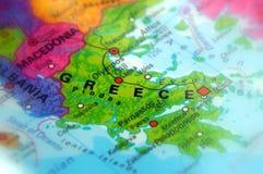 Greece, officially the Hellenic Republic. Greece, officially the Hellenic Republic Selective Focus Royalty Free Stock Photos