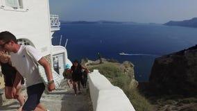 greece oia santorini lager videofilmer