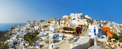 greece oia santorinisikt Royaltyfri Foto