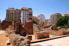 Greece, old and new. Parts of town Salonika Stock Image