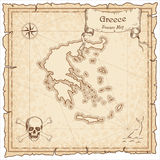 Greece old pirate map. Royalty Free Stock Photography