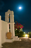 Greece orthodox chapel . Greek chapel in night light royalty free stock image