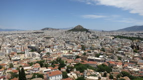Greece Panoram de Atenas foto de stock royalty free