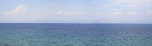 greece panorama- havssikt Royaltyfria Foton