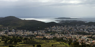 Greece panoramic view. Athens, greece panoramic sea view Royalty Free Stock Photo