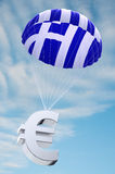 Greece parachute Royalty Free Stock Images