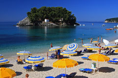greece parga Arkivbild