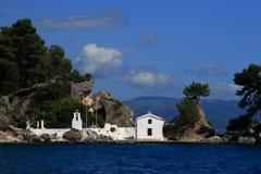 greece parga Arkivbild