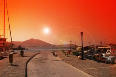 Greece, Paros Royalty Free Stock Photo