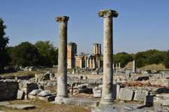 Greece, Philippi. Greece, archeological area of ancient Philippi Stock Photo
