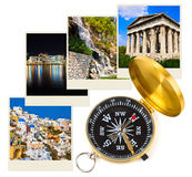 Greece photography and compass Royalty Free Stock Image